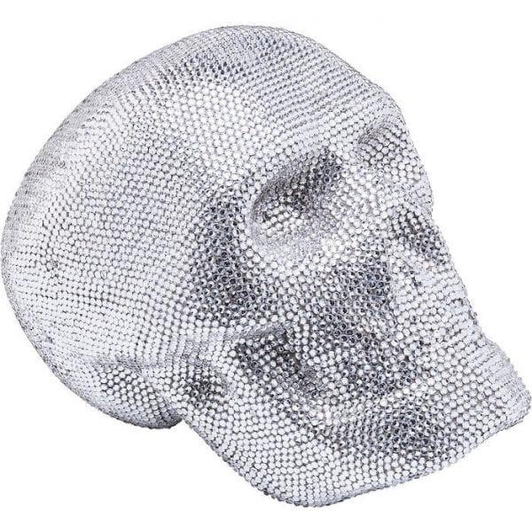 Deco Object Crystal Skull Silver Small 61636 Polyresin, glas gekleurd Kare Design