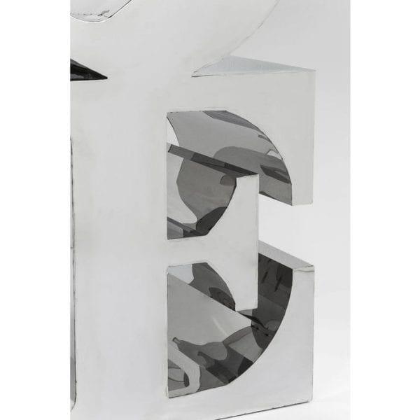 Deco Object LOVE Stainless Steel 39119 roestvrij staal gepolijst, met de hand gemaakt Kare Design