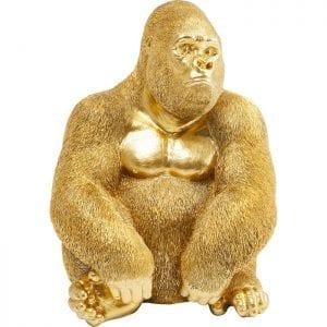 Deco Object Monkey Gorilla Side Medium Gold 61446 Als hij eenmaal binnen is, zou je op een dag met hem kunnen praten. Dit komt door zijn schattige verschijning! In ieder geval zult u zich duidelijk onderscheiden van de massa met dit decoratieve accessoire! De aantrekkelijke Monkey Gorilla is verkrijgbaar in verschillende maten en kleuren. Kare Design