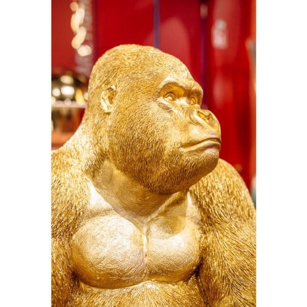 Deco beeldje Monkey Gorilla Side XL goud 61445 Als hij eenmaal binnen is, begin je misschien op een dag met hem te praten. Het is zijn schattige karakter! Monkey Gorilla is verkrijgbaar in verschillende versies. Kare Design