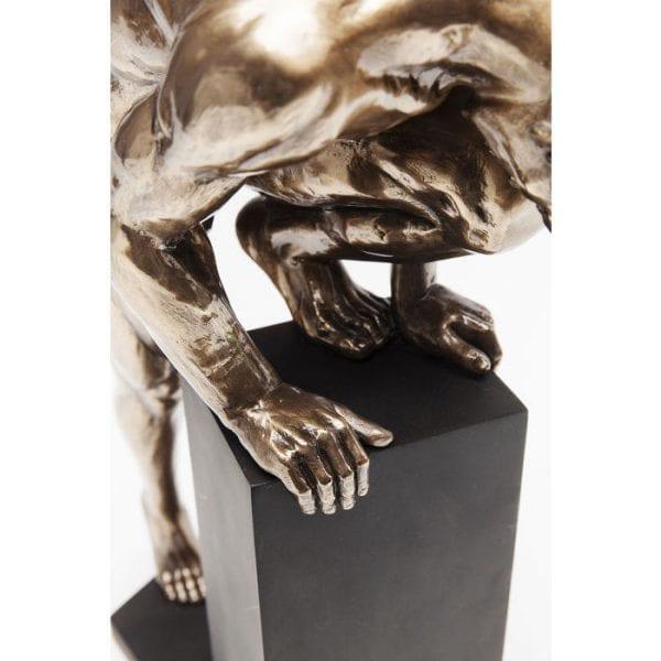 Kare Design Nude Man Stand Bronze 35cm object 62301 - Lowik Meubelen