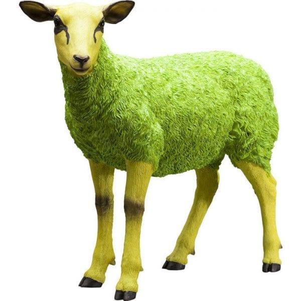Deco beeldje Schapen Colore groen 38134 polyresin Kare Design