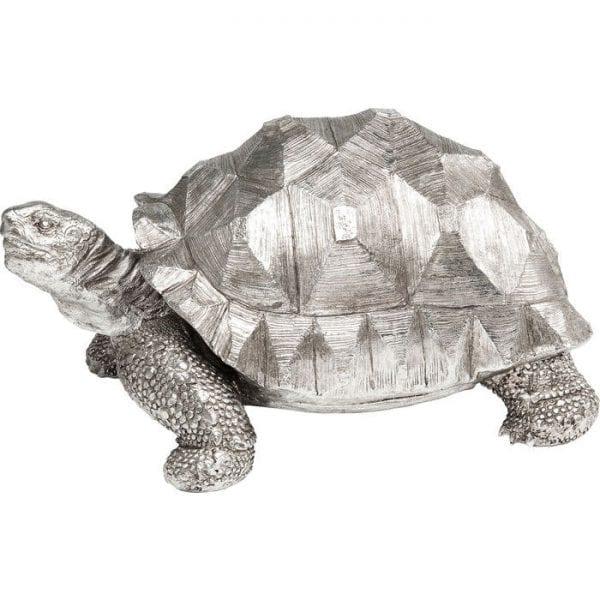 Deco Object Turtle Silver Medium 61964 polyresin Kare Design