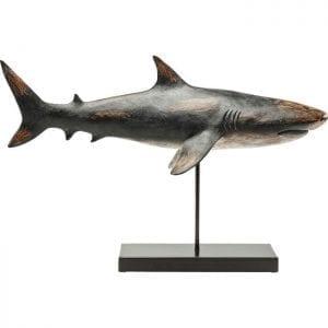 Deco Object Shark Base 30380 : staal gelakt,: polyresin, levering afgebroken Kare Design