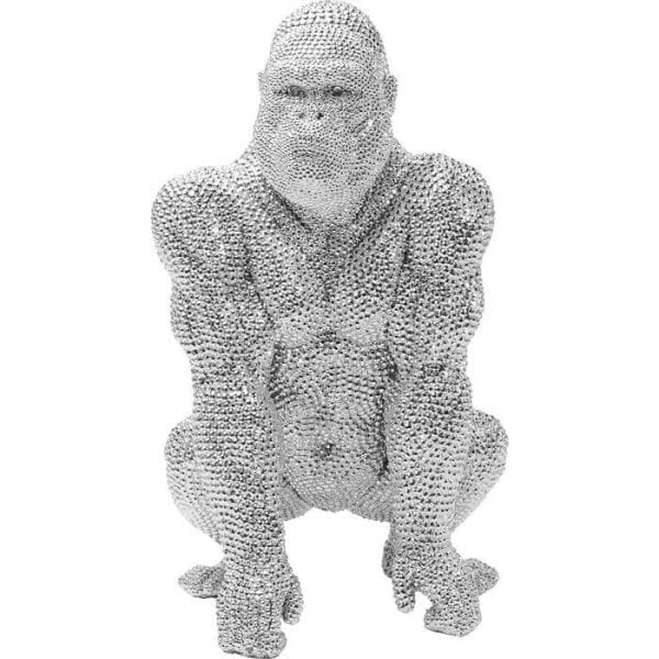 Deco Object Shiny Gorilla Silver 46cm 61561 object: polyresin Kare Design
