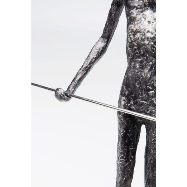 Deco voorwerp Trapez Star 54cm 63915 Onderstel: staal gelakt, Object: Polyresin, Handgemaakt Kare Design