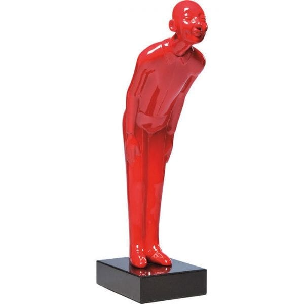 Deco Object Welcome Guests Red Small 32985 Decorative Welcome Guests Red Small figure made of fibre glass and with a base made of marble in signal red. Kare Design