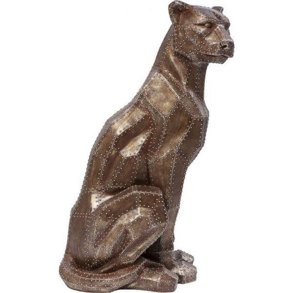 Deco Object Sitting Cat Rivet Copper 38499 polyresin gelakt Kare Design