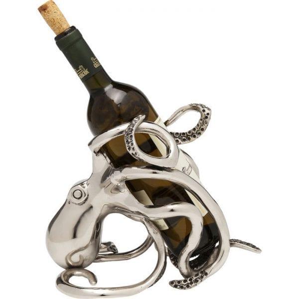 Fles Rack Octopus 61485 aluminium vernikkeld Kare Design