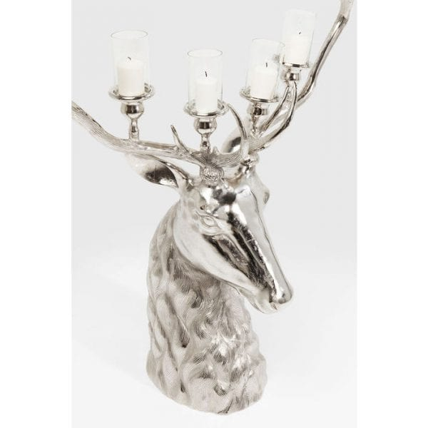 Kaarsenstandaard Reindeer 61506 aluminium vernikkeld, levering afgebroken Kare Design