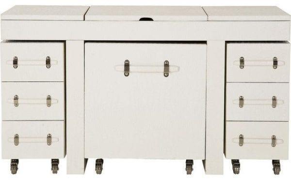 tafel Make Up Combination Diva croco white Kare Design tafels - 75168 - Lowik Meubelen