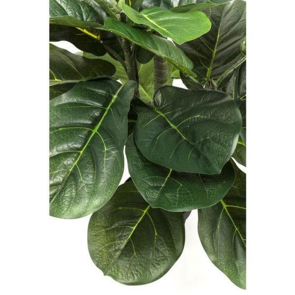 Deco Plant  Fiddle Leaf 120cm 60723 Decoratieve plant: weinig onderhoud ..... Deze decoratieve plant heeft geen water of zonlicht nodig, maar hij ziet er echt stijlvol uit en zorgt voor coole combinaties. Perfect voor ongedwongen arrangementen in ongebruikte hoeken van de kamer en overal waar u uw wens om te versieren wilt uiten. Geeft een onmiddellijke boost van frisheid voor het interieur van uw huis. Andere versies ook beschikbaar. Kare Design