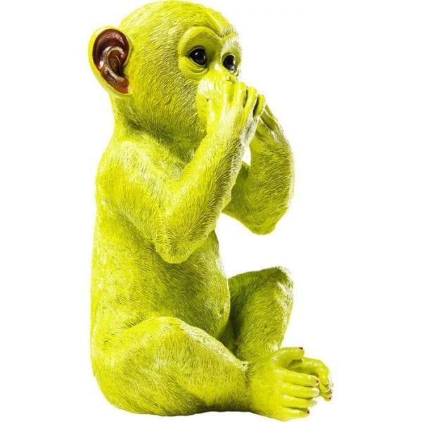 Geldkistje Monkey Iwazaru Lime 60794 polyresin Kare Design