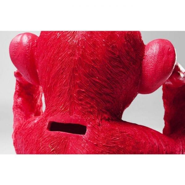 Geldkistje Monkey Kikazaru Red 60793 polyresin Kare Design