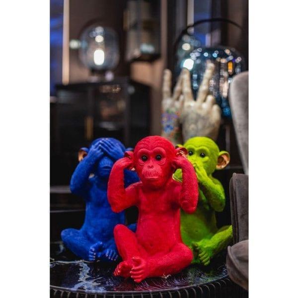 Geldkistje Monkey Mizaru Blue 60792 polyresin Kare Design