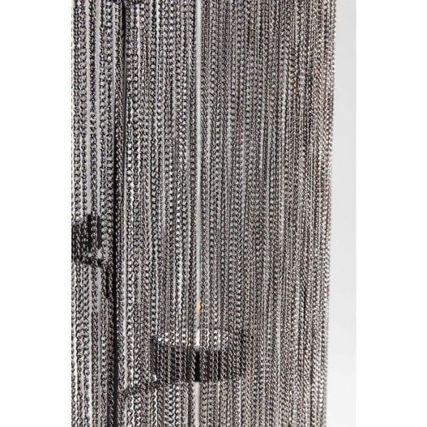 Theelichthouder Chain Black Quattro 36cm 61237 frame: staal vernikkeld, staal gepoedercoat Kare Design
