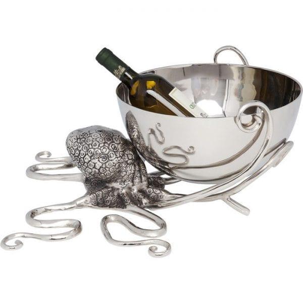 Wijn Cooler  Octopus 61484 aluminium vernikkeld, micro-licht Kare Design