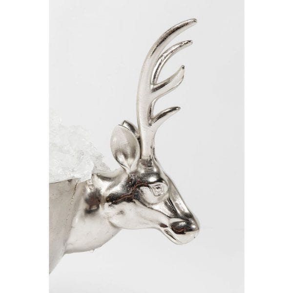 Wijn Cooler Oh Deer 54cm 61342 Nothing is more suited to a party than opulence. In this respect, the large, shiny silver wine cooler Oh Deer is a great choice - whether it stands on the drinks buffet or directly on the table, its appearance puts you into a festive mood. Kare Design