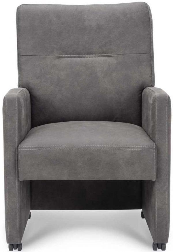Coletta armstoel in stof Preston grey - Carrera stoel
