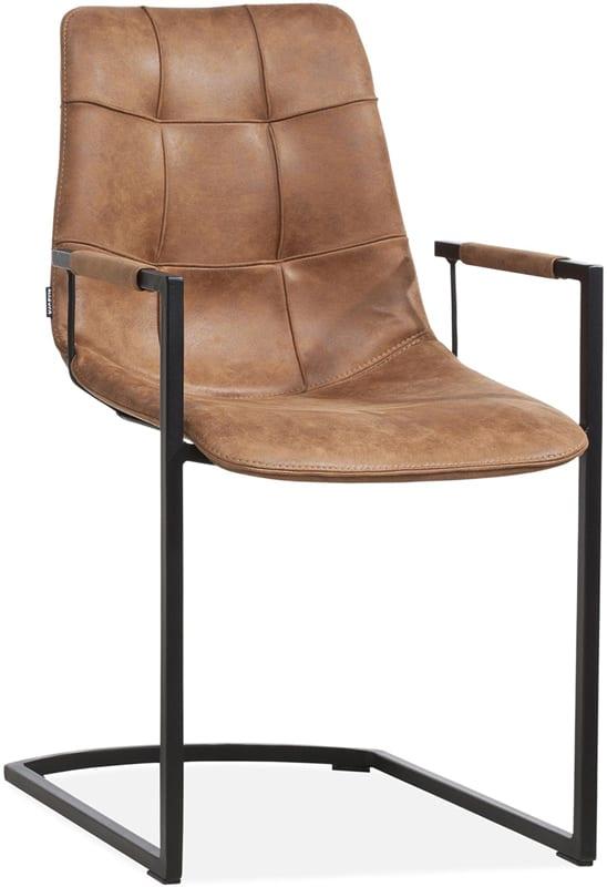 Condor armstoel in Softyl cognac, Maxfurn stoelen collectie