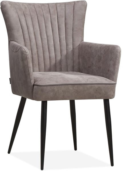 Motive stoel, retro design armstoel in microvezel stof
