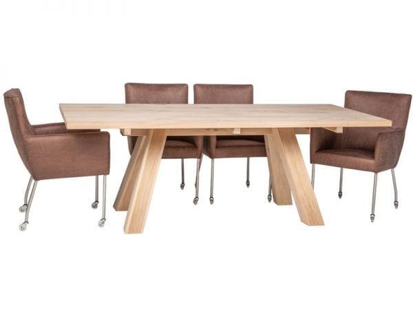 Silver armstoel uit de HE Design stoelen collectie