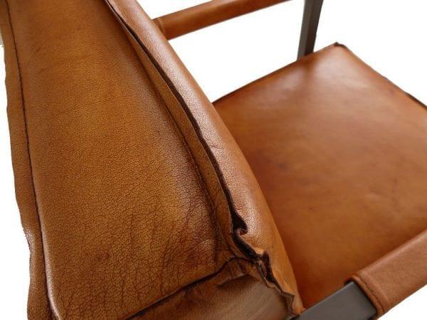 stitch armstoel leder vintage cognac shanghai 5128775