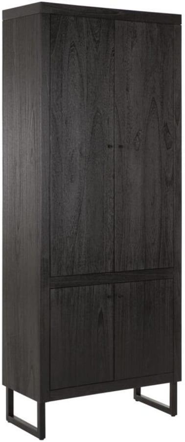 Night bergkast van DTP - zwart gelakt hout