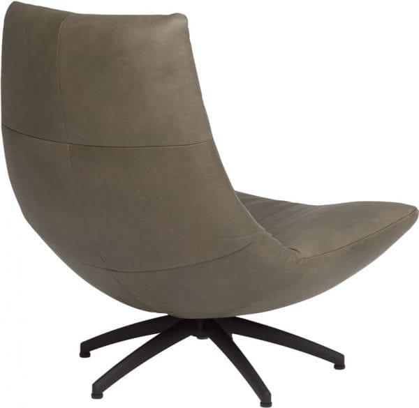 Reflex fauteuil leder Vintage taupe - HE-design