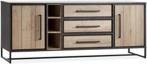 Monopoly dressoir, vintage stijl in Lamulux met metaal - Maxfurn