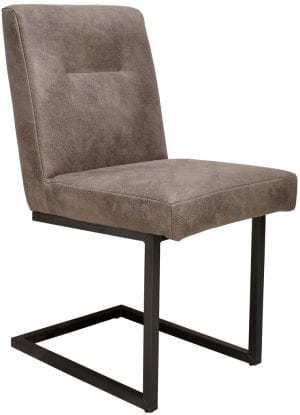 Dupo stoel uitgevoerd in buffelleder brownwashed