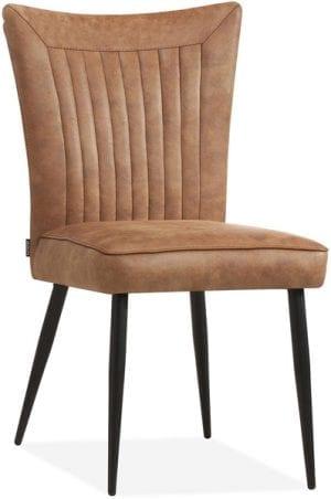 gaga stoel eetstoel verticaal stiksel retro design