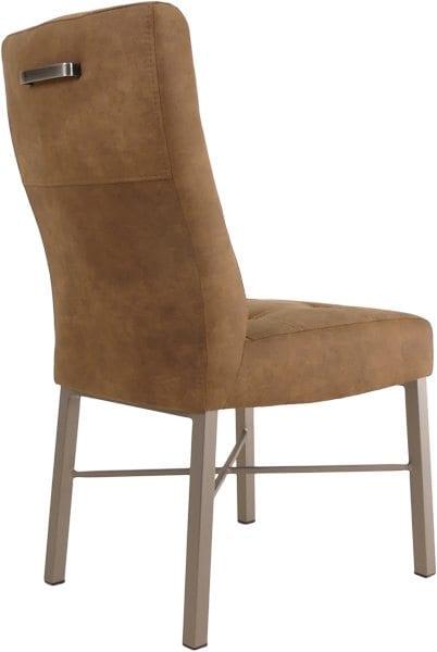 Kaj 223 stoel, vintage design met industrieel onderstel stof Cowboy