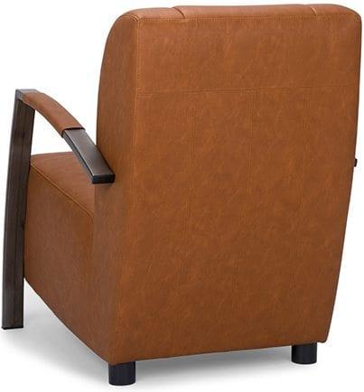 Anikka fauteuil, vintage fauteuil met een industrieel onderstel