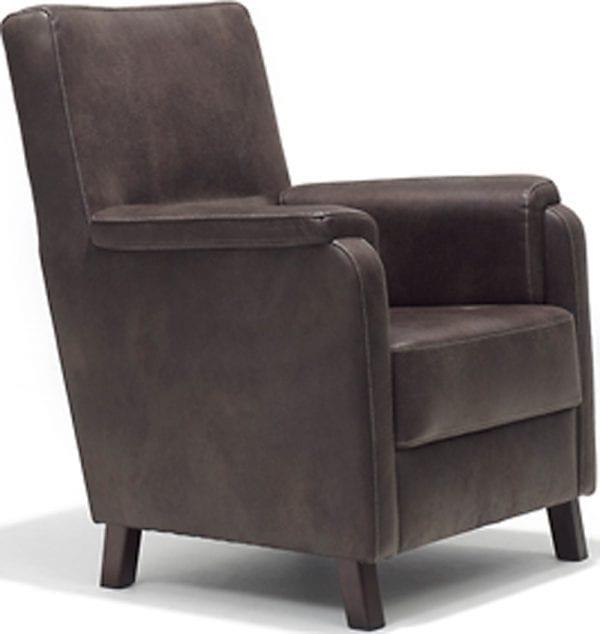 Boa fauteuil, heerlijk comfortabel uitgevoerd in Gazelle microleder
