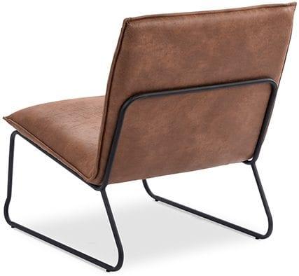 Chapman fauteuil, stoer minimalistisch retro design - stof Rawhide
