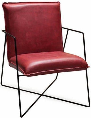 Early fauteuil buffelleder rood - Draht