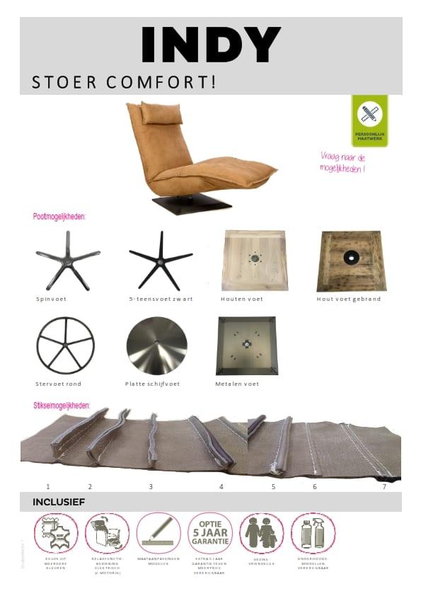 Indy fauteuil, stoere relaxfauteuil met een geweldig comfort
