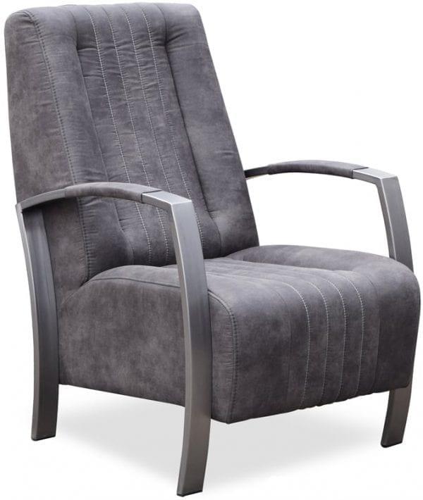 305 fauteuil vintage design stof Cowboy 104 metaal