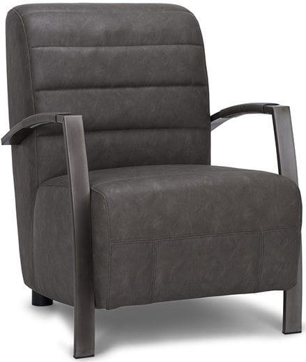 Tommy fauteuil, vintage fauteuil met een industrieel onderstel