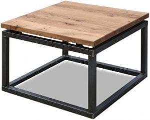 Hoektafel 652 Koopmans meubelen, eiken blad met metalen onderstel