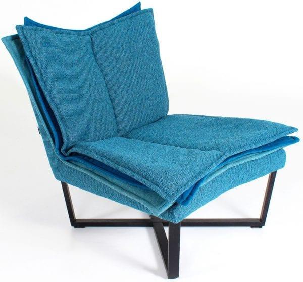 Moome FLO FAUTEUIL blauw - design meubels - Indera - designer Tessa Lauwaert