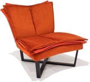 Moome FLO FAUTEUIL oranje - design meubels - Indera - designer Tessa Lauwaert
