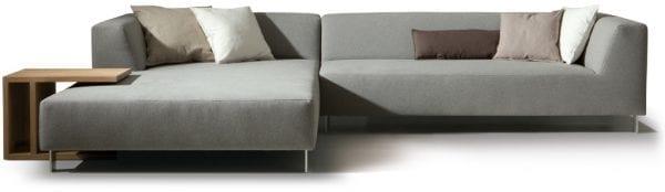 Mit hoekbank met lonchair van Moome - Belgische design meubels met karakter!s
