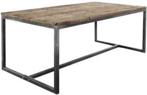 Eettafel 180x90 Kempton Uitgevoerd in Canyon wood met zwart metalen frame.