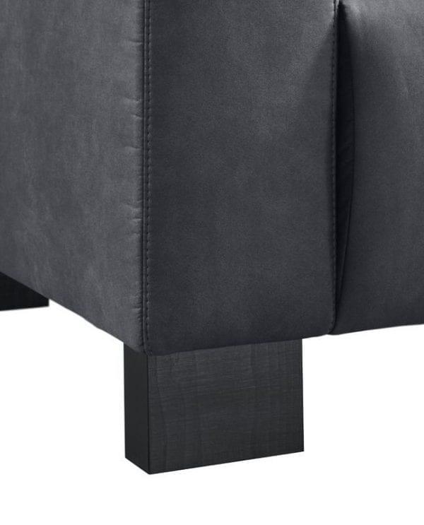 3,5 zitsbank Alpa pocketveren/koudschuim zitting black uit de bankstellen Pronto Wonen Lowik Meubelen Uitgevoerd in stof preston 100-black met arm B, pocketvering i.c.m. HR-schuim in de zitting en zwarte houten poten, type HF1 (12 cm).
