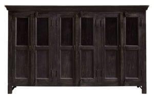 Dressette Cedrino mangohout brownisch black uit de overige woon-en zitkamermeubelen Pronto Wonen Lowik Meubelen Uitgevoerd in massief mangohout in de kleur brownish black-8, met 6 deuren.