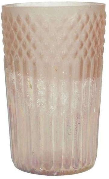 Kaarsenhouder glas peach_Accessoires_Pronto Wonenlowikmeubelen