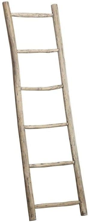 Ladder Legno teak black wash H180 uit de woonaccessoires Pronto Wonen Lowik Meubelen Uitgevoerd in teakhout in de kleur black wash.
