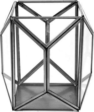 Lantaarn 16cm geametric zwart_Accessoires_Pronto Wonenlowikmeubelen